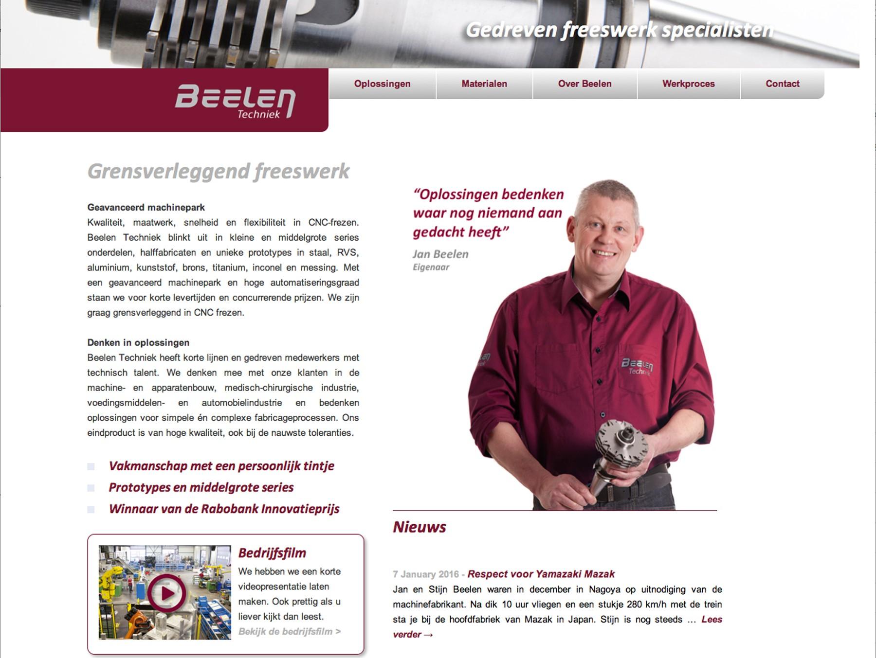 Beelen Techniek website